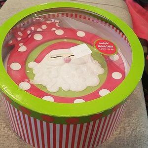 "NIB Mud pie ""Santa Baby""  6pc Tea Set"